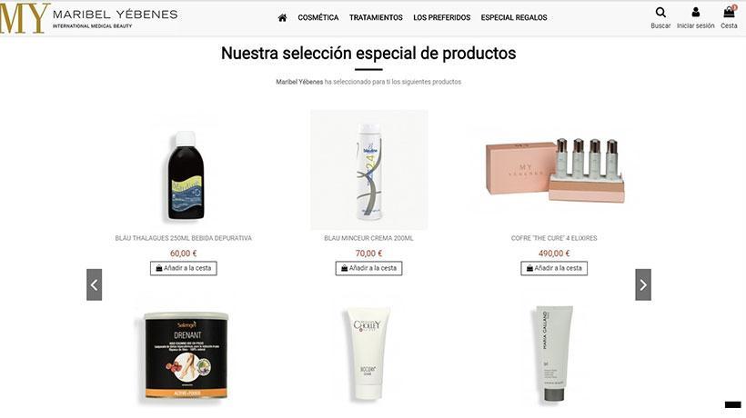Ecommerce productos de belleza