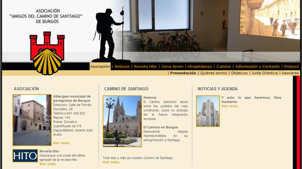 Web de la Asociación del camino de Santiago en Burgos