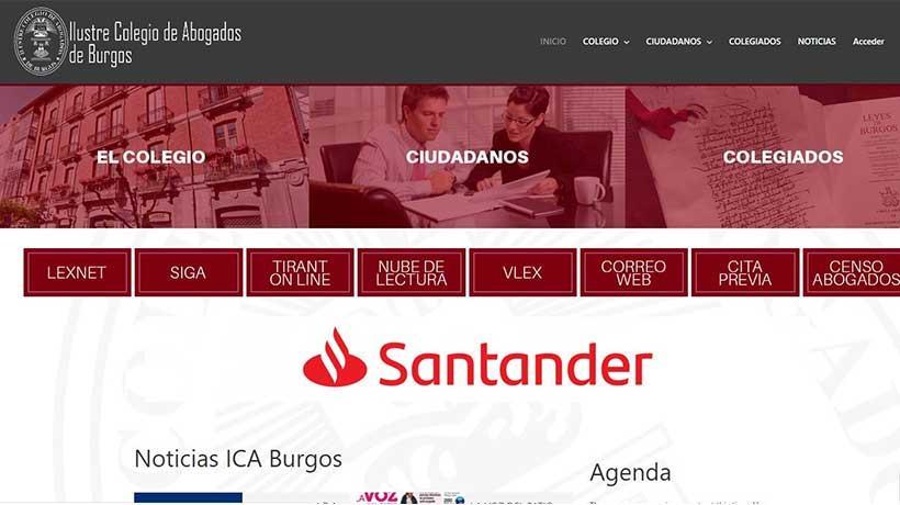 Diseño portal web colegio de abogados
