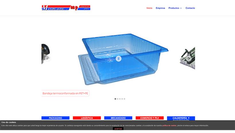 Web corporativa fábrica Maniplastic