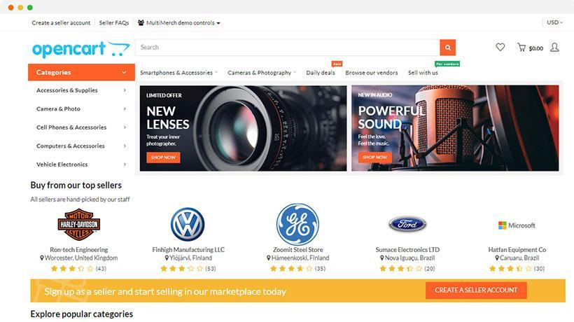 Oferta especial Tienda de comercio electrónico para Teletrabajo