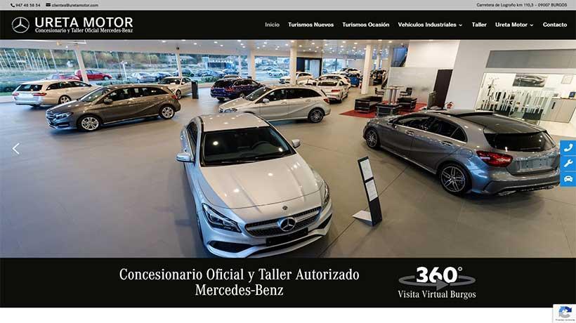 Página WEB concesionario Mercedes Benz Ureta Motor